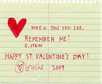 Valentine's 2009
