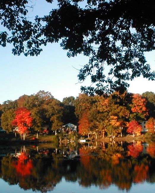 Hidden lake fall