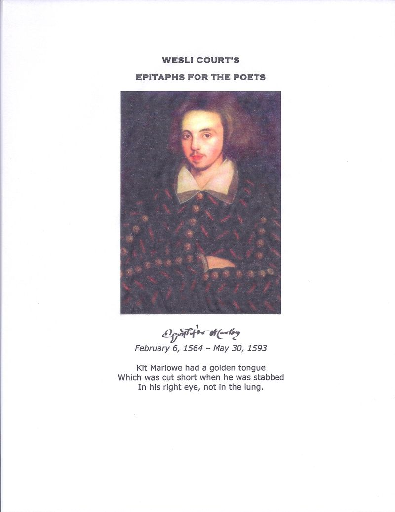 Epitaphs for the Poets