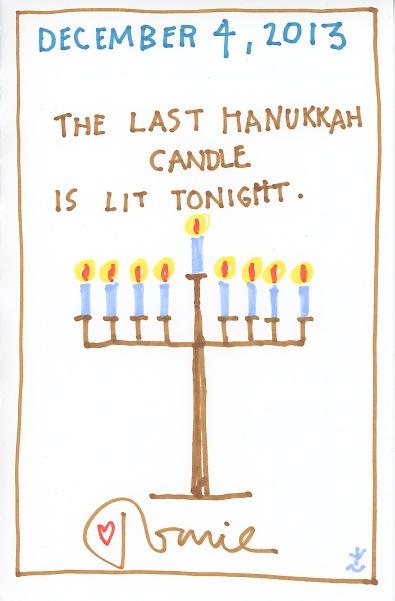 Last hanukkah candle