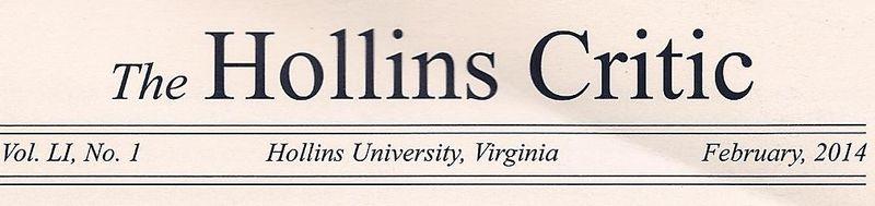 Hollins Critic 2014