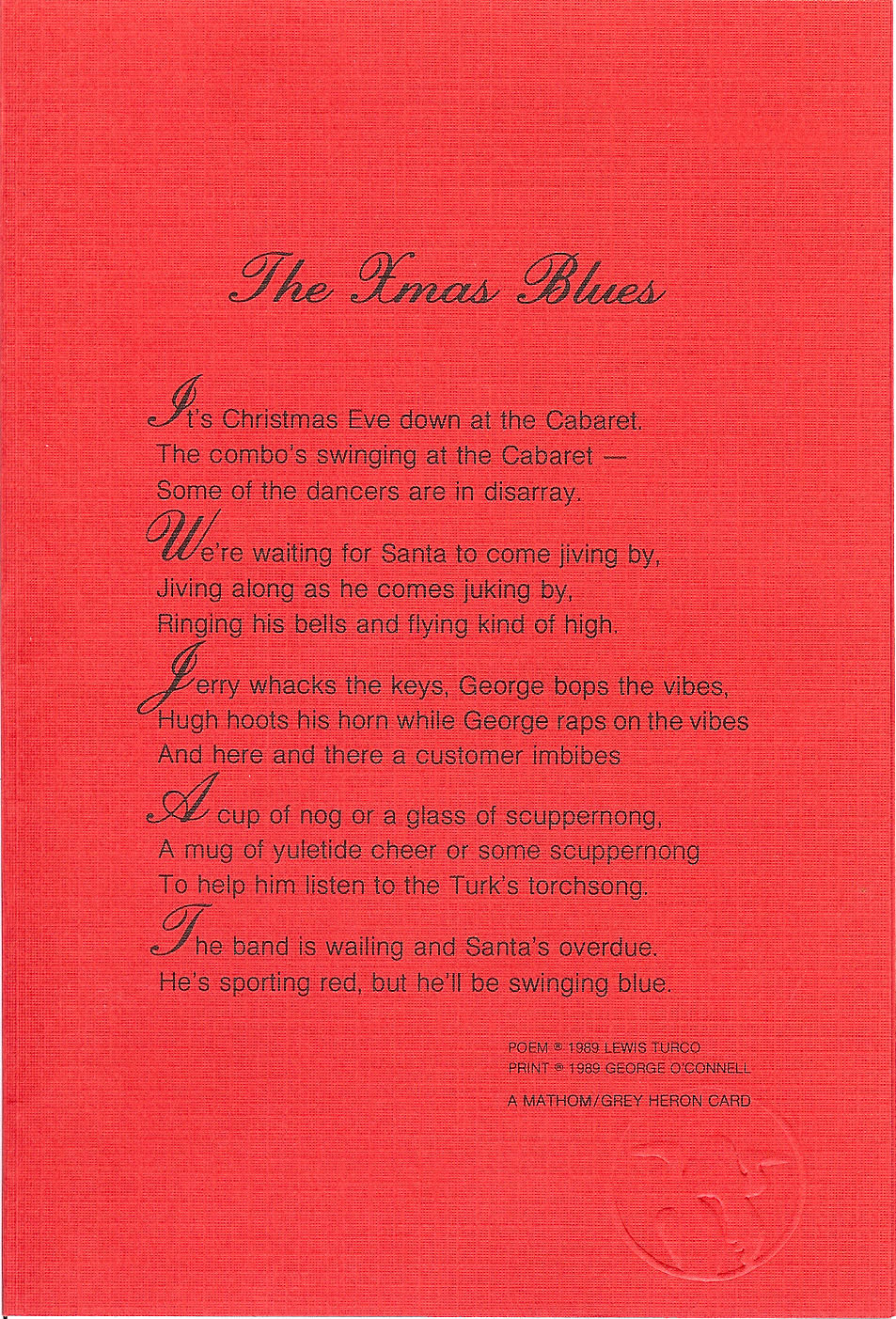 Poetics and Ruminations: Form of the Week 8: Blues Forms